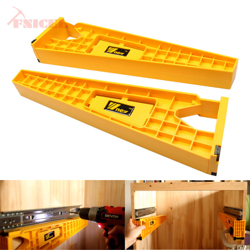 1set Drawer Installation Jig woodworking Drawer Slide Mounting Tool Cabinet Installation Jig Cabinet Hardware Install Guide Tool