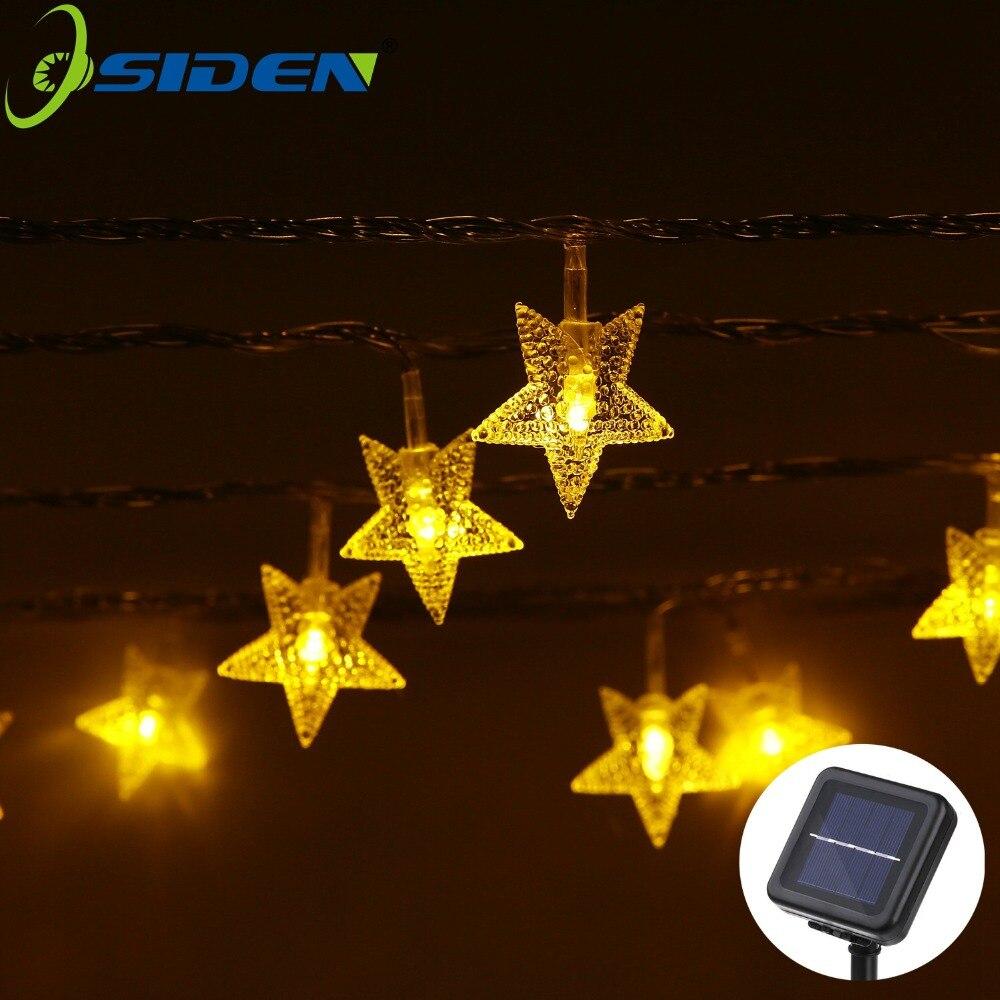 OSIDEN 12 M 100Led LED Étoiles Fée Guirlande Lumineuse 220 V 110 V Pour Le Mariage Décorations De Noël Décorations pour Arbres De Noël lumières de Vacances
