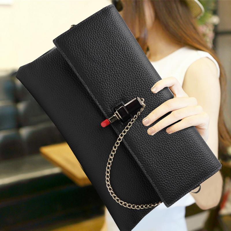 Eropah Style Luxury Clutch Bag Handbag Genuine Leather Evening Bag Women Crossbody Shoulder Bag Large Capacity Envelope HandBag 2017 women bag cowhide genuine leather fashion folding handbag chain shoulder bag crossbody bag handbag party clutch long wallet