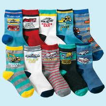 10 paia/lotto 4 12 anni i bambini calze di cotone del fumetto dei calzini dei ragazzi di alta qualità