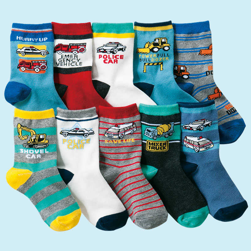 10 pairs/lot  4-12 years kids socks cartoon cotton boys socks high quality