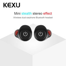 KEXU TWS Mini Bluetooth Earphones 1 Pair True Wireless Earbuds Sports Stereo Headset With Mic Handsfree For XIAOMI Android(China)