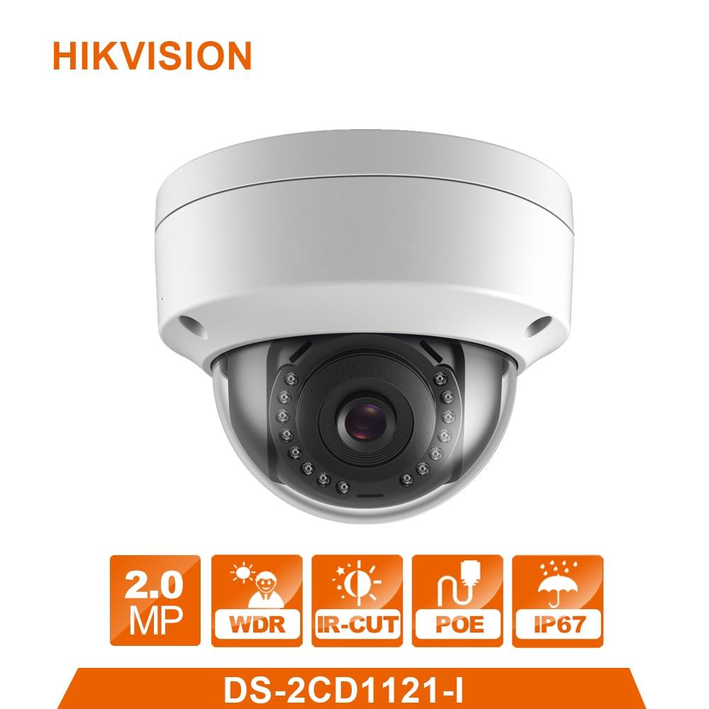 Hik DS-2CD1121-I Original English webcam replace DS-2CD2125F-IS 2MP Mini Dome IP Camera POE Firmware Upgradeable CCTV Camera