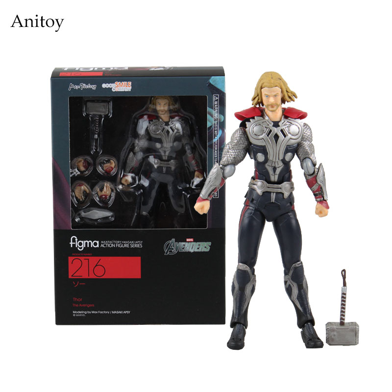 Marvel The Avengers Thor Figma 216 PVC Thor Action Figure Collectible Model Toy 14cm