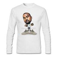Kanye West dos homens Jogando Tour Camisetas música pop Personalizado Música Rap Estilo Clássico Camisas de Colarinho Homens Magros Moda T-Shirt