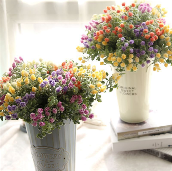 home decoration Artificial flowers small fresh Milan Bayberry with artificial flowers garden wedding Decorations