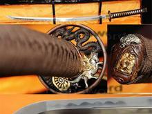 Real Fully Handmade Clay Temper Japanese Samurai Katana Sword knife tow