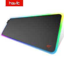 Havit Extra Large Mouse Pad Gaming Mousepad Anti-slip Natural Rubber Gaming Mouse Mat with Locking Edge or Luminous USB LED(China)