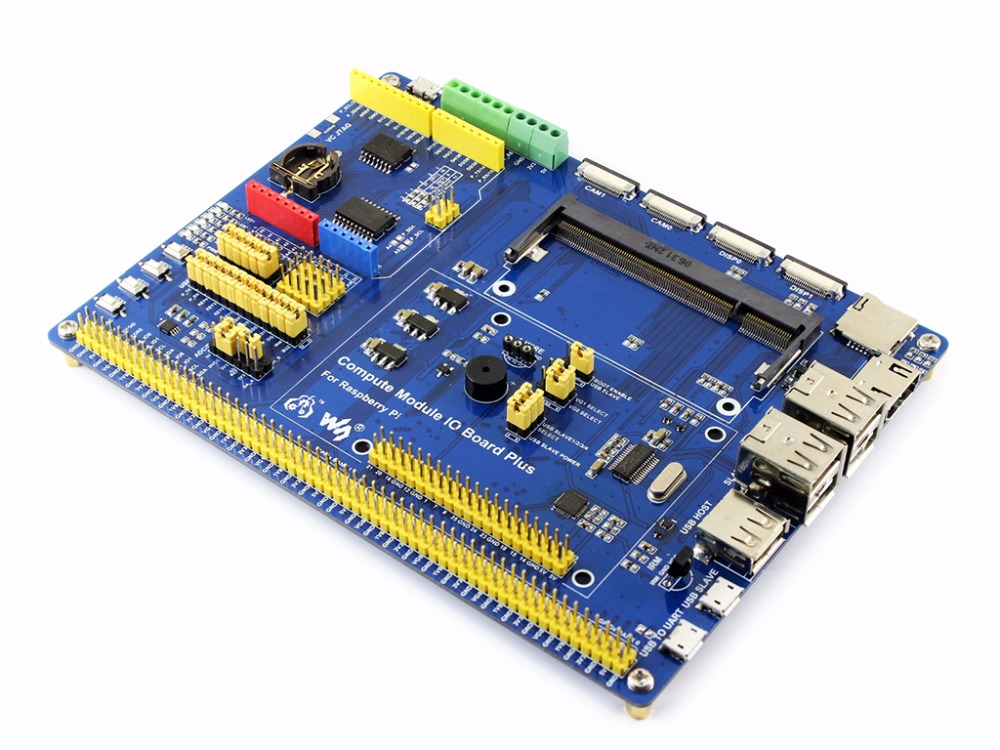 Compute Module IO Board Plus, Composite Breakout Board for Developing with Raspberry Pi CM3, CM3L Various common use components