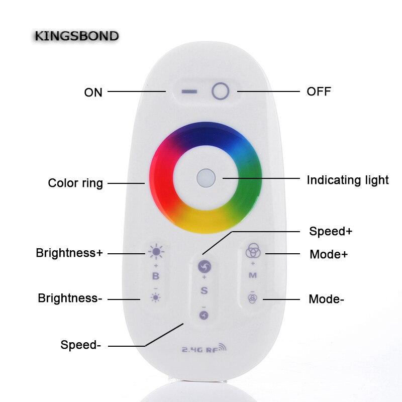 Controladores Rgb toque de controle remoto dc12-24v Método Controlado : 2.4g Wireless Control