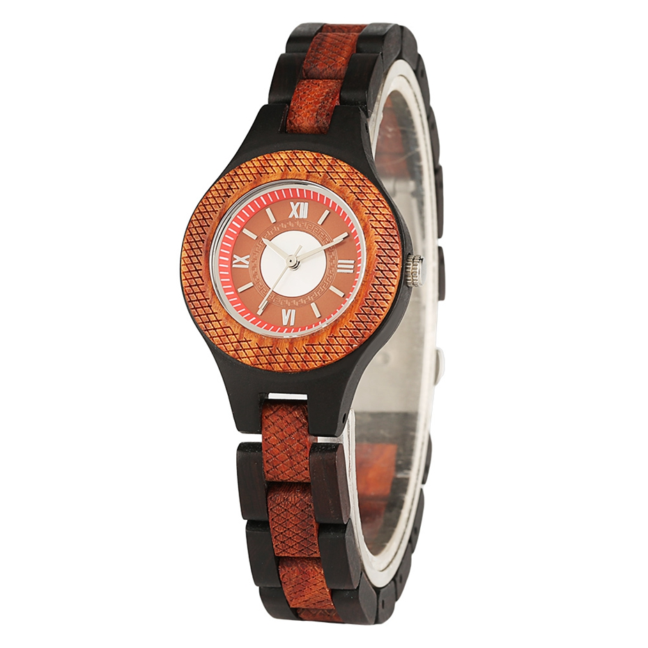 Women Watch Creative Multi-layer Circle Chic Dress Watch Dial Analog Light Slim Wooden Bracelet Quartz Wristwatch for Lady Girls 2020 (2)