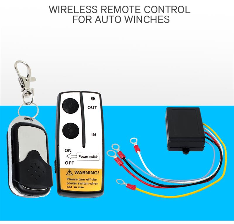 Hot Universal 12V Wireless Winch Remote Control Switch Unit ...