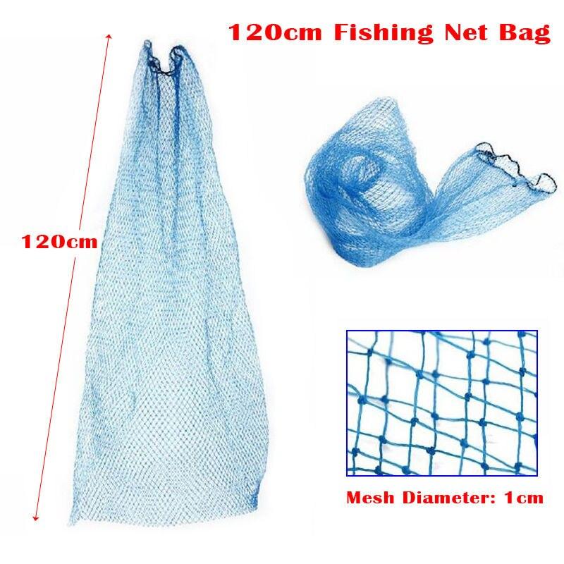 1 piece 120cm small fishing tackle mesh bag fish bag care for Small fishing net