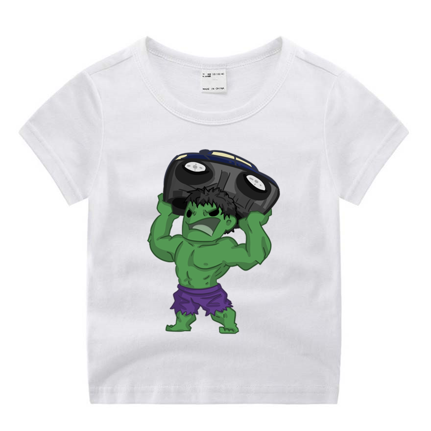 Baby Boy Clothes Cartoon Movie Hulk Funny Cartoon Print T-shirt Kids Summer O-Neck Tops Boy & Girls Tshirt Baby Clothes