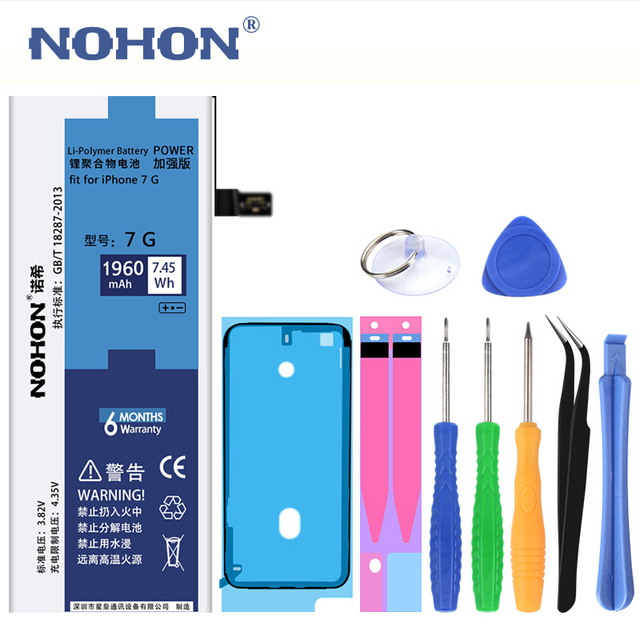 Original NOHON Battery for Apple iPhone 7 6 Plus 7Plus 6Plus 7P 6P 1960-3360mAh Replacement Batteries +Tools For iPhone 6 7 Plus