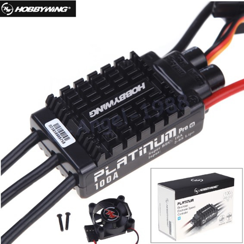 все цены на 1pcs Original HobbyWing Platinum 100A V3 RC Model Brushless ESC for Multicopter For Align TREX 550 600 700 RC Helicopter Fixed онлайн