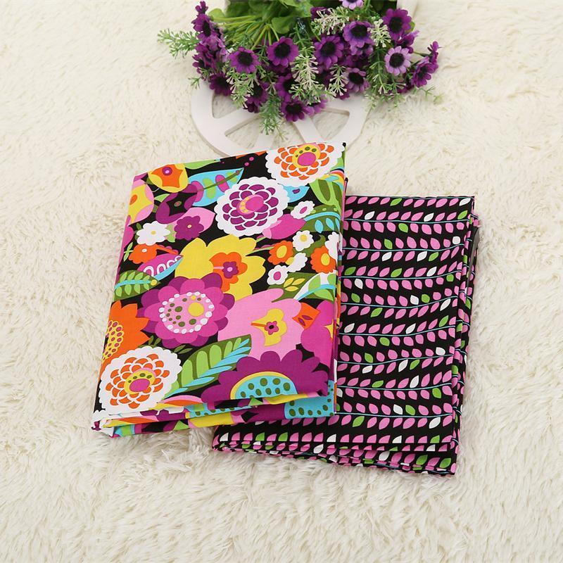 2/50*150 cm VB orgánica 100% tejidos de algodón de la vendimia impreso patchwork