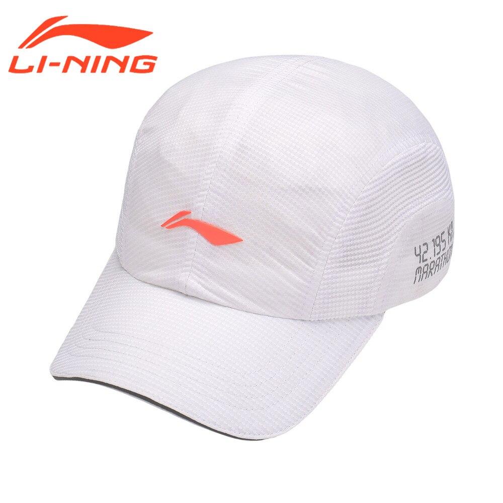 Li Ning Lauf Reflektierende Caps Baseballmütze Futter Sport Sonnenschirm Uv-schutz Kappe AMYM068
