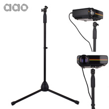 Universal 79 to 141cm Adjustable Mini Projector Floor Stand Tripod Digital Camera Holder Stand Bracket for YG500 C80 Projector