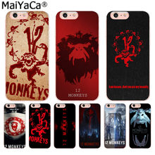 MaiYaCa American Tv series 12 Monkeys Luxury High-end phone Accessories Case for iPhone 8 7 6 6S Plus X 10 5 5S SE XR XS XS MAX(China)