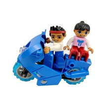 Legoing Duplo Car Figure DIY Motorcycle Big Size MOC Single Sale Building Blocks Toy for Children Compatible for Duploe Blocks(China)