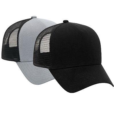 Cotton Flannel Trucker Hat with Adjustable Mesh Back Justin Bieber SOLID BLACK