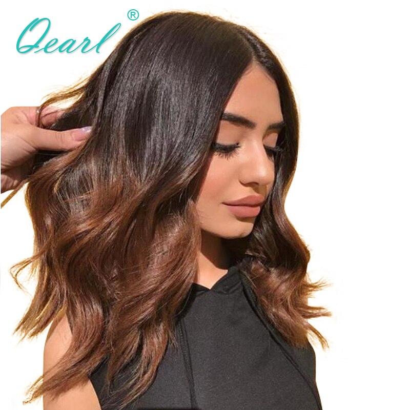 Ombre 1B/30 Brésilien Remy de Cheveux Humains Avant de Lacet Perruques pour les Femmes Avec Bébé Cheveux Ombre Couleur de Cheveux Humains perruque