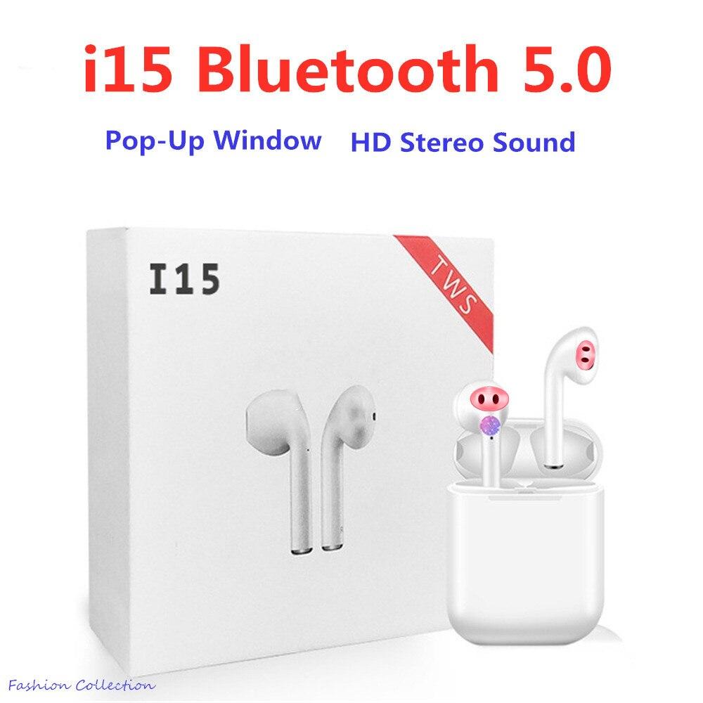 I15 tws fone de ouvido bluetooth 5.0 fones de ouvido do esporte com mic fone de ouvido fones de ouvido sem fio para telefone inteligente pk i30 tws i10 tws