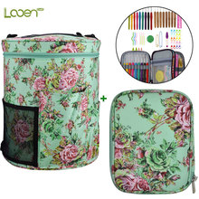 Looen Yarn Storage Bag With Crochet Hooks Set DIY Needle Arts Craft Knitting Needles Empty Knitted Bag Sewing Tools Accessories looen crochet hooks set with empty yarn storage bag sewing tools cut animal knitting needles diy needle arts craft with case