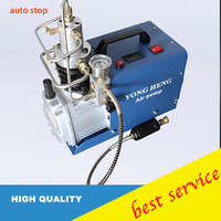 YONGHENG Automatic Stop Version 300BAR 30MPA 4500PSI High Pressure Air Pump Electric Air Compressor 220v