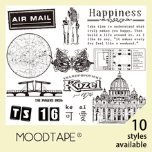 moodtape vintage clear stamp for DIY scrapbooking/photo album Decorative transparent stamp city lovely cute rubber stamp seal chunky monkey transparent clear silicone stamp seal for diy scrapbooking photo album decorative card making clear stamps 4x6inch
