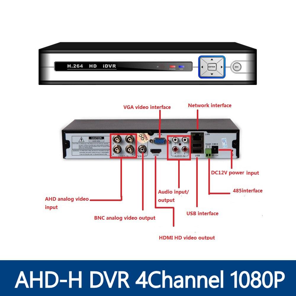 YUNSYE AHD-H DVR 4Channel CCTV AHD DVR AHD-M Hybrid DVR/1080P NVR 4in1 Video Recorder For AHD Camera IP Camera Analog Camera