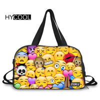 HYCOOL Sport Gym Bag Emoticon Printed For Women Fitness Waterproof Travel Handbag Outdoor Training Athletic Bag Men's Sport Bags