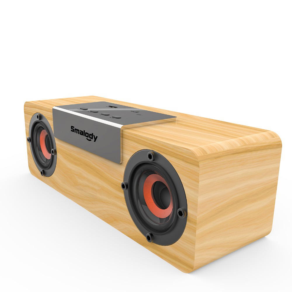 Image 4 - Smalody Bluetooth Speaker Portable Wooden Wireless Speakers Stereo Mini Subwoofer TF Slot FM Radio TWS function-in Portable Speakers from Consumer Electronics