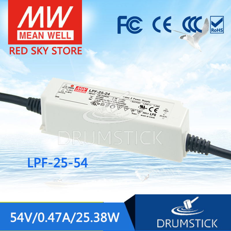цена на Advantages MEAN WELL original LPF-25-54 54V 0.47A meanwell LPF-25 54V 25.38W Single Output LED Switching Power Supply