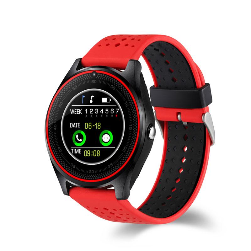 Montre intelligente Bluetooth V9 DZ09 avec caméra Smartwatch podomètre santé Sport horloge heures hommes femmes pour carte SIM Android