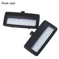 led white car 2X 18smd black LED vanity mirror lamp For BMW F10 F11 F07 F01 F02 F03 Led reading lights bulbs Car-styling auto parts White (3)