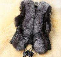 New Arrival !!!2018 Short Design Female Fox Fur Vest Leather Vest Outerwear Plus Size Fur Vest Women Coats Faux Fur Jackets