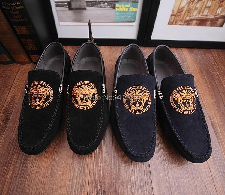 42dc1da38b37 New Arrival men designer genuine leather loafers mens driving shoes velvet  slippers smoking shoes slip-on creeper