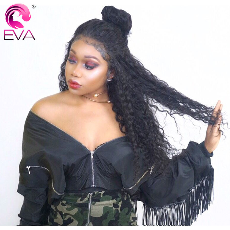 360 Lace Frontal Wigs For Women Black Pre Plucked Lace Front Human Hair Wig With Baby Hair Brazilian Remy Eva Hair Bleached Knot