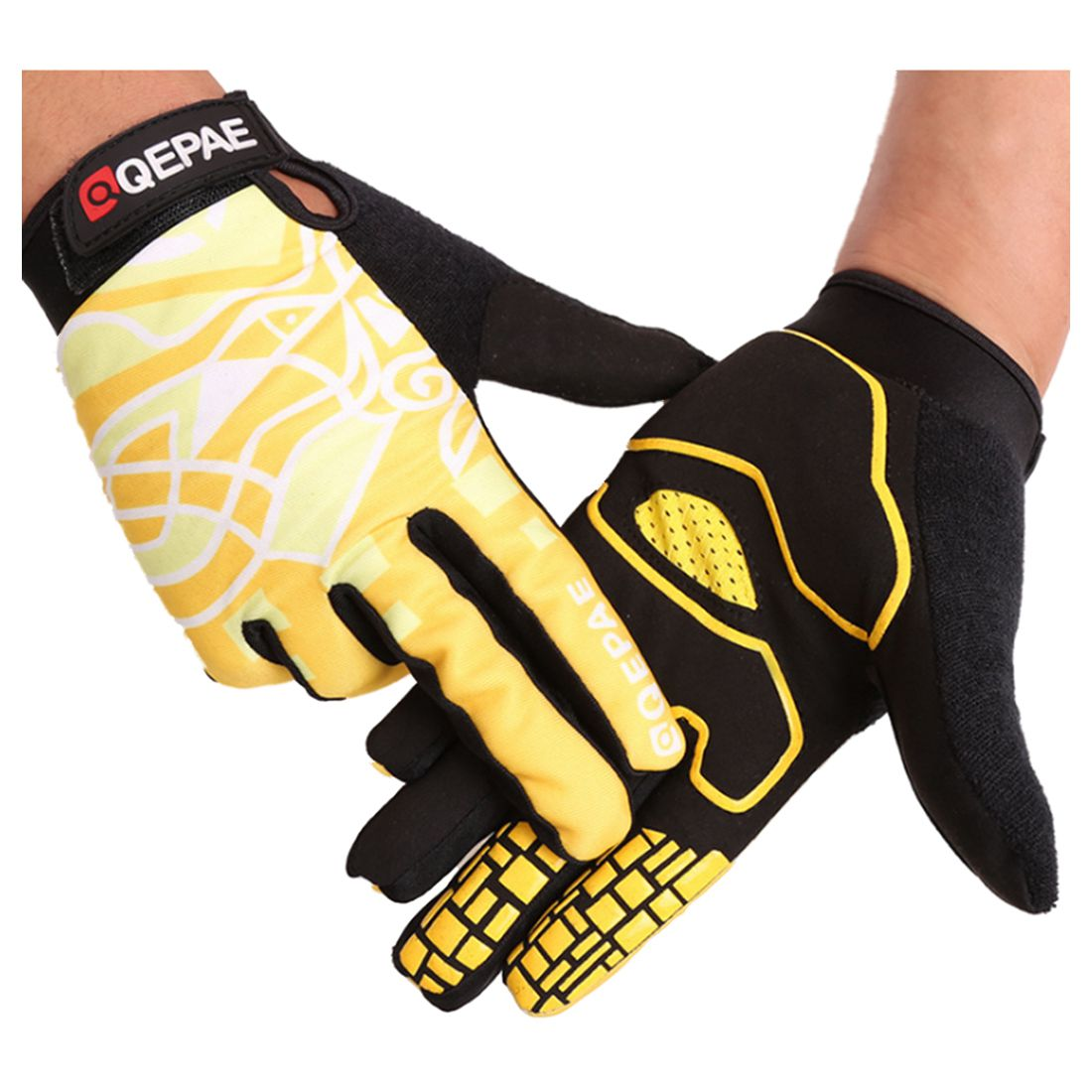 Bicycle long finger touch screen riding outdoor motorcycle fitness gloves