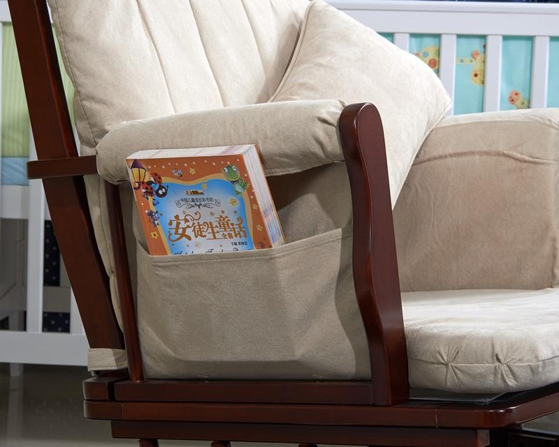 nursery rocker et planeurs pouf chaise bercante en bois avec coussin rembourre salon meubles moderne chaise bercante pour pepiniere dans chaises salle de