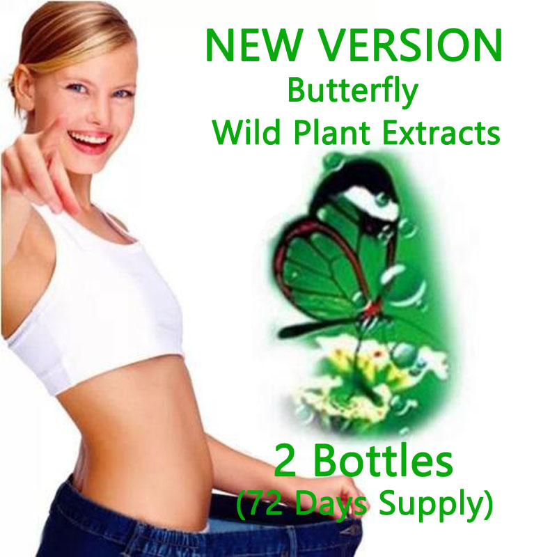 ( <font><b>2</b></font> bottles ) Herbal wild plant extracts lose weight <font><b>butterfly</b></font> bottle version for fast weight loss advanced slimming <font><b>effective</b></font>