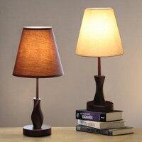 Modern minimalist fashion wooden bedroom bedside table lamp bedside lamp warm living room lamps lighting cloth FG777