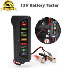Car 12V Digital Battery Alternator Tester 6 LED Lights Display Diagnostic Tool #P40(China)