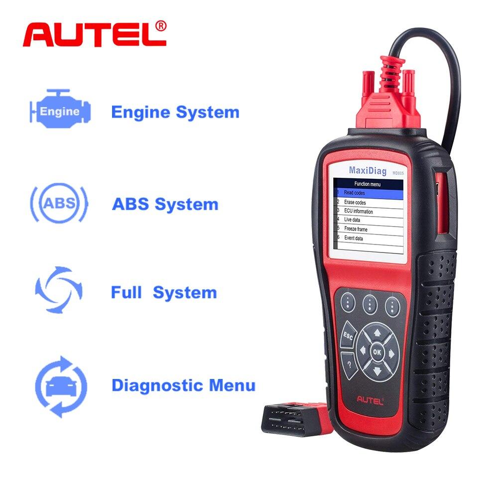 Autel OBD2 Outil De Diagnostics de Voiture MD805 MaxiDiag Elite All Système Lecteur de Code Scanner ABS SRS EPB Mieux à MD802 Outils pour Auto