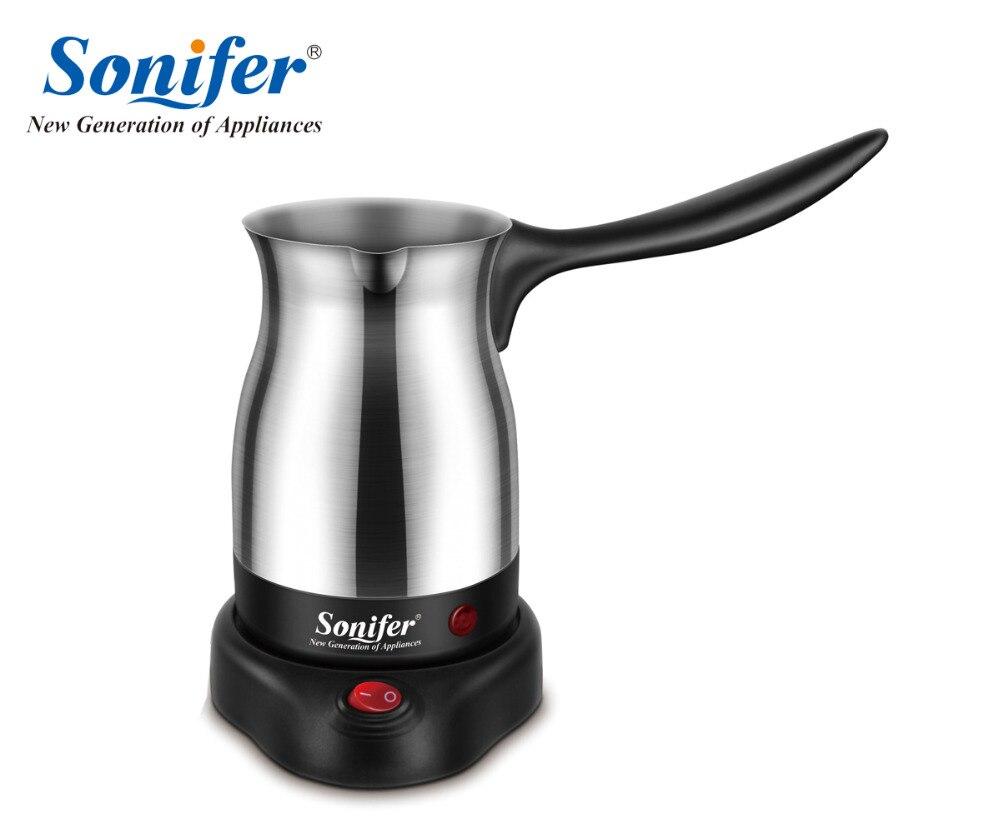 304 de acero inoxidable máquina de café Turquía cafetera eléctrica cafetera hervidor Sonifer