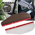 POSSBAY 1PC/2Pcs Car Rear View Mirror Weatherstrip Flexible Car Rear View Side Mirror Rain Sun Snow Shielding Cover Protector