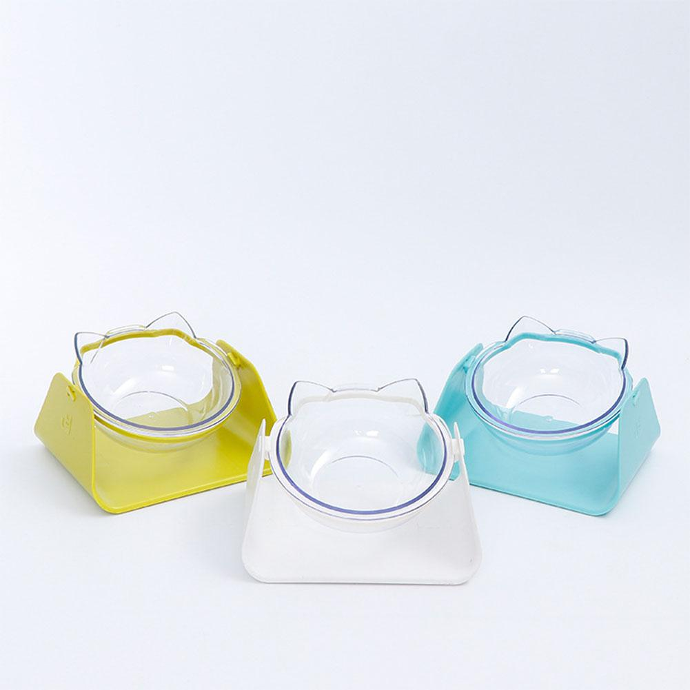 Lanlan Transparent Bowl With Holder Anti-slip Cat Dish Tilted None Feeder For Most Cats