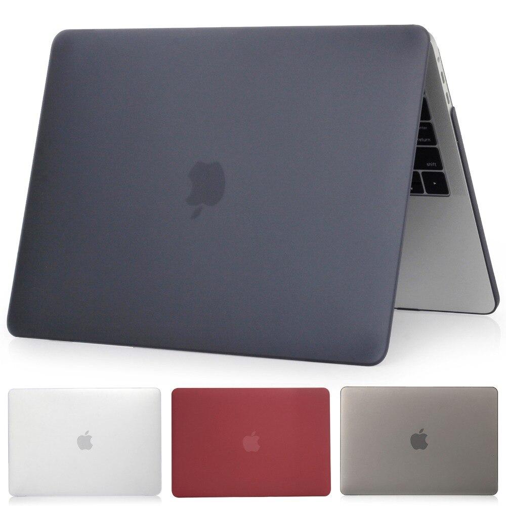 Matte Caixa Do Portátil Para Apple Macbook Pro Retina Air 11 12 13 15,2019 para mac Air 13 A1932 A1466, new pro 13 15 A1707 A1708 shell